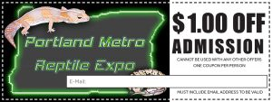 Portland Metro Reptile Expo Dollar Off Coupon
